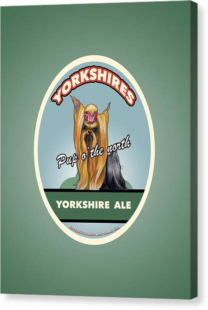 Craft Beer Canvas Print - Yorkshire Ale by John LaFree
