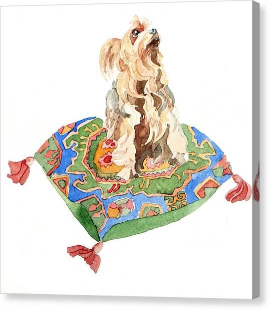 Yorkshire Terrier Canvas Print - Yorkshire Terrier by Jennifer Abbot