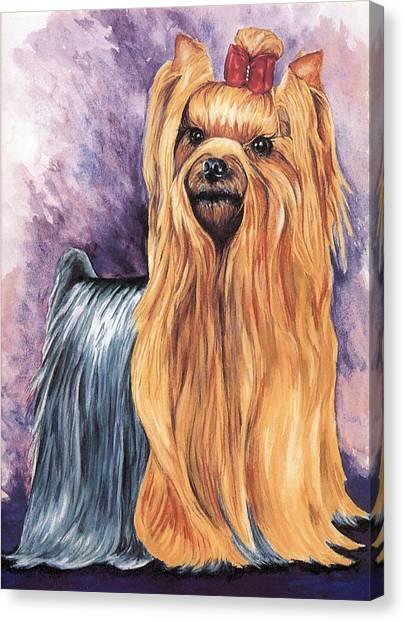 Yorkshire Terrier Canvas Print by Kathleen Sepulveda