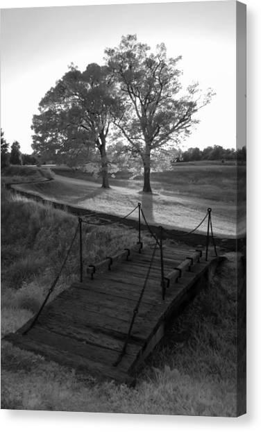 Yorktown - Battlefield Foot Bridge Canvas Print