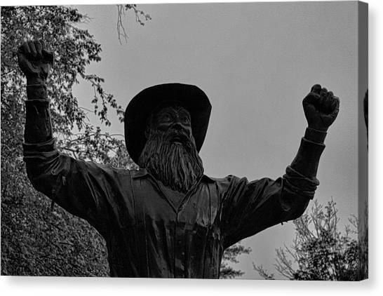 Sun Belt Canvas Print - Yosef Statue  by Selena Wagner