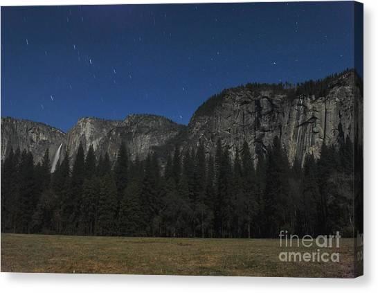 Yosemite At Night Canvas Print by Richard Verkuyl