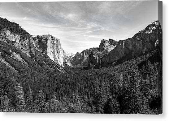 Yosemite B/w Canvas Print