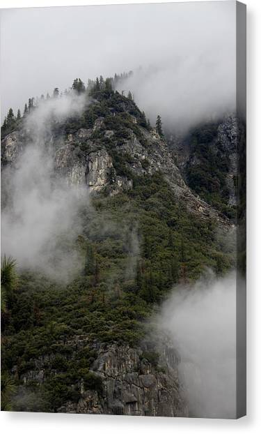 Canvas Print featuring the photograph Yosemite Clouds by Phyllis Spoor