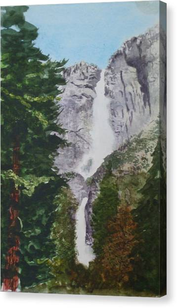 Yosemite Falls 1 Canvas Print by Ally Benbrook