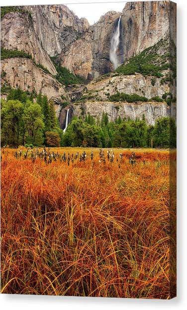 Yosemite Falls Autumn Colors Canvas Print