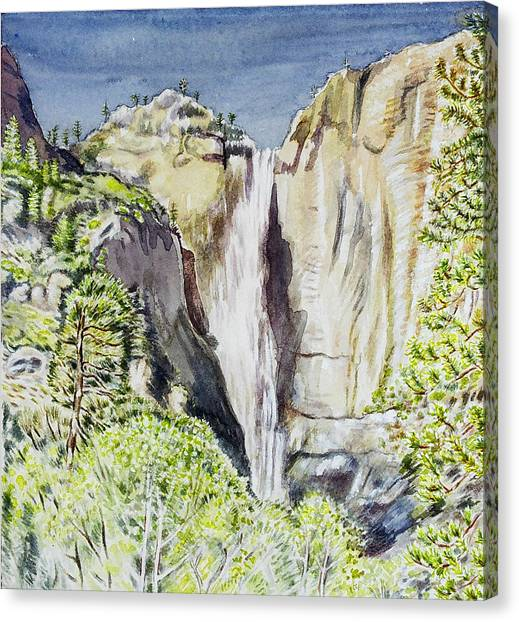 Yosemite Falls California Canvas Print by Patricia Buckley