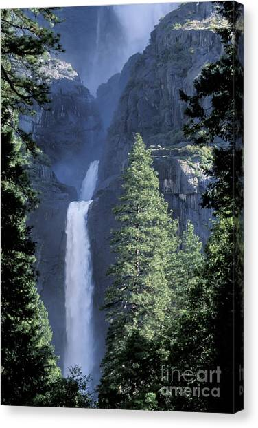 Yosemite Falls In Spring Canvas Print by Stan and Anne Foster