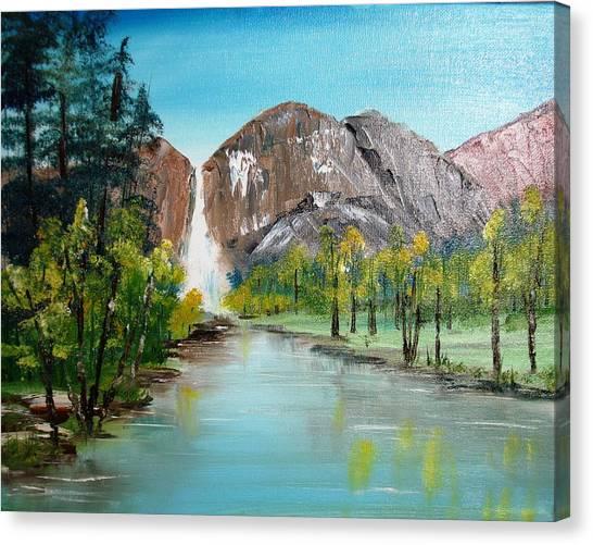 Yosemite Falls Canvas Print by Larry Hamilton