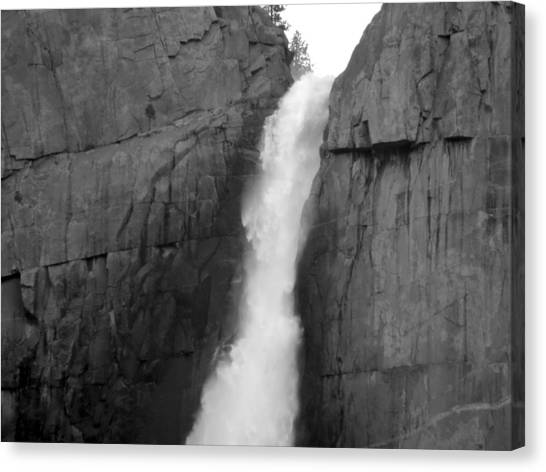 Yosemite Falls Monochrome Canvas Print by Eric Forster