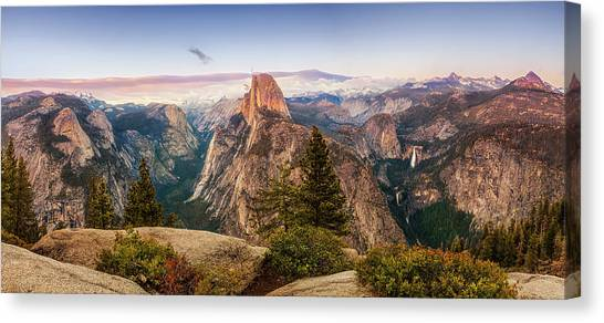 Yosemite Falls Canvas Print - Yosemite Glacier Point Panorama by Andrew Soundarajan