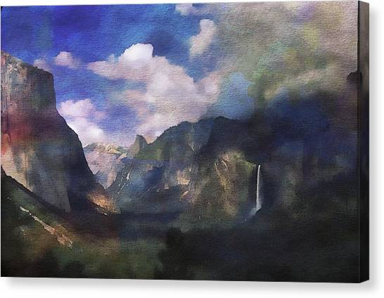 Yosemite H2o Color Canvas Print