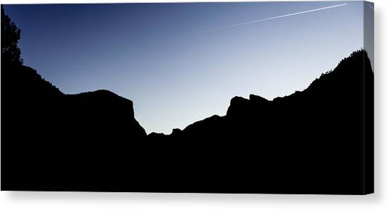 Yosemite In Silhouette Canvas Print