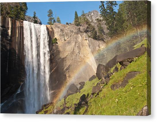 Yosemite Mist Trail Rainbow Canvas Print