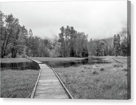Yosemite Monochrome Canvas Print