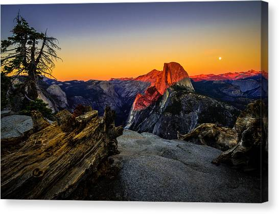 Yosemite National Park Glacier Point Half Dome Sunset Canvas Print