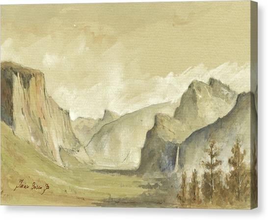 Yosemite National Park Canvas Print - Yosemite National Park by Juan Bosco