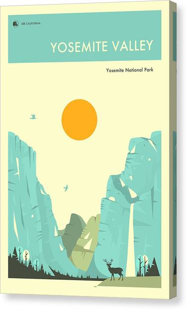 Yosemite Canvas Print - Yosemite National Park Poster by Jazzberry Blue