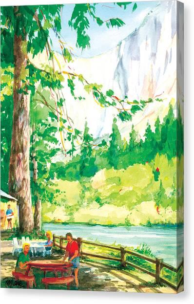 Yosemite Picnic Canvas Print by Ray Cole