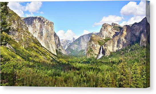 Yosemite Tunnel View Afternoon Canvas Print