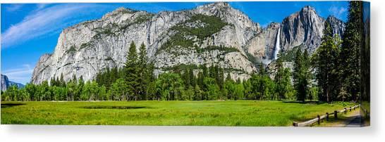 Yosemite Valley Meadow Panorama Canvas Print