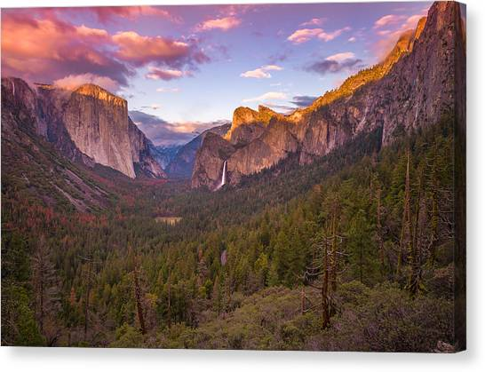 Ansel Adams Canvas Print - Yosemite Valley Spring Sunset by Scott McGuire