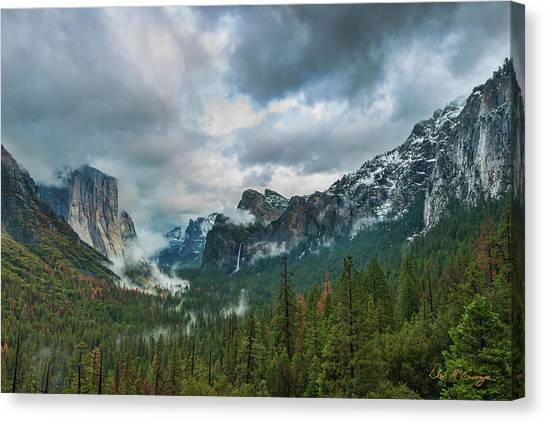 Yosemite Valley Storm Canvas Print