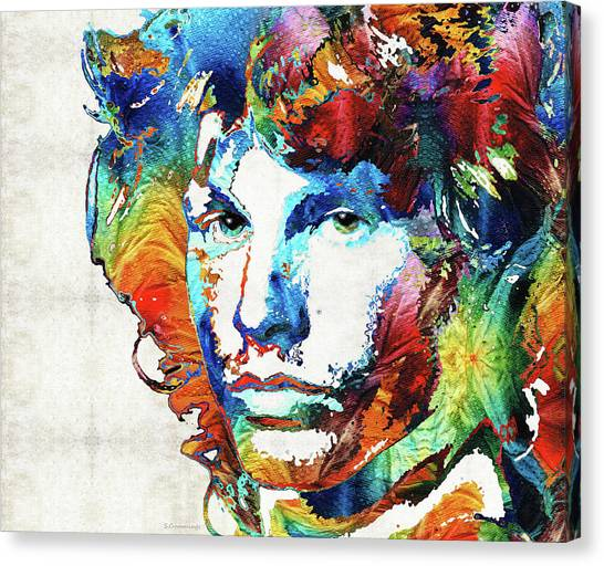 Rocker Canvas Print - You Are Free - Jim Morrison Tribute by Sharon Cummings