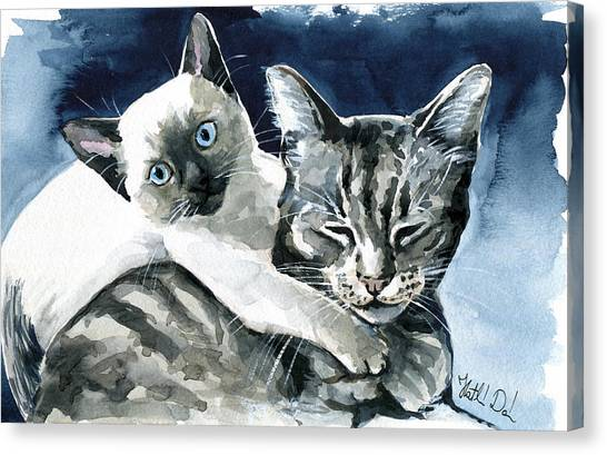 You Are Mine - Cat Painting Canvas Print