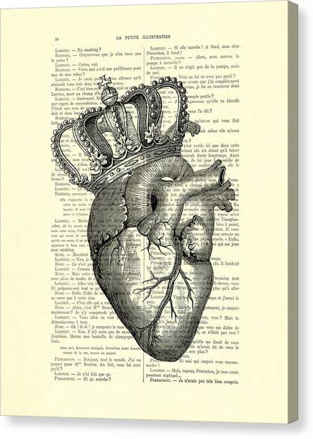 Wedding Gift Canvas Print - You Are The Queen Of My Heart by Madame Memento