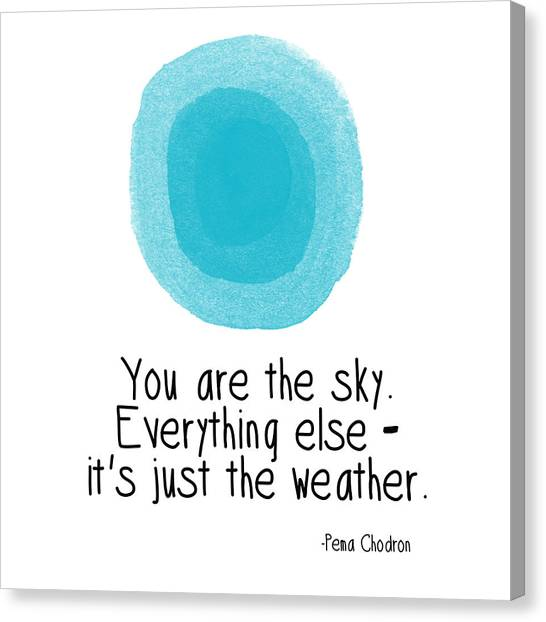 Inspirational Canvas Print - You Are The Sky by Linda Woods