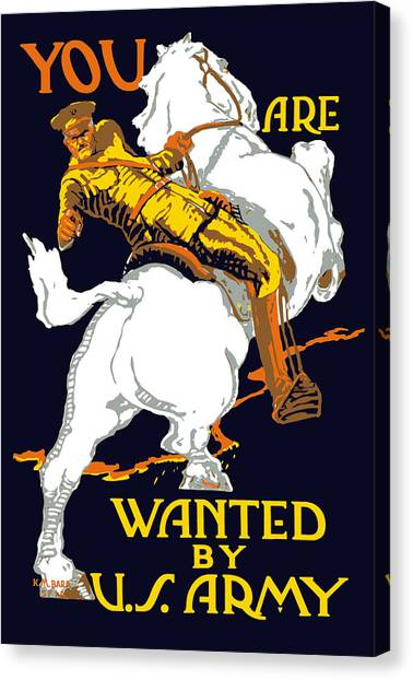 War Horse Canvas Print - You Are Wanted By Us Army by War Is Hell Store