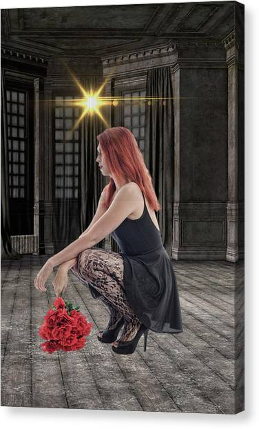 Red Roses Canvas Print - You Dont Bring Me Flowers by Smart Aviation