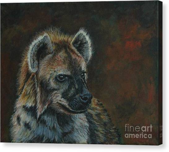 You Don't See Me Laughing......hyena Canvas Print