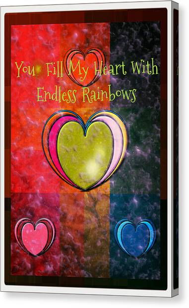 You Fill My Heart Canvas Print