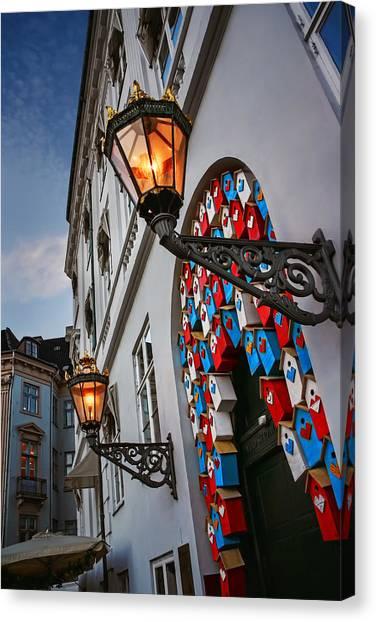 Street Lights Canvas Print - Tweet Tweet In Copenhagen by Carol Japp