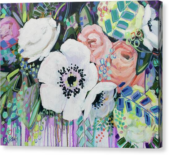 White Flower Canvas Print - You Had Me At Hello by Kristin Whitney