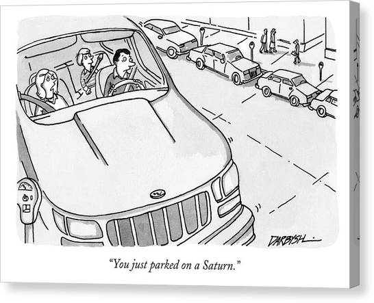 You Just Parked On A Saturn Canvas Print