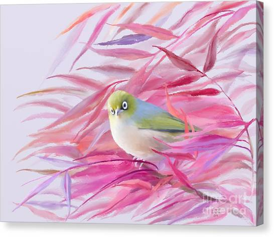 Canvas Print featuring the painting You Looking At Me? by Ivana Westin