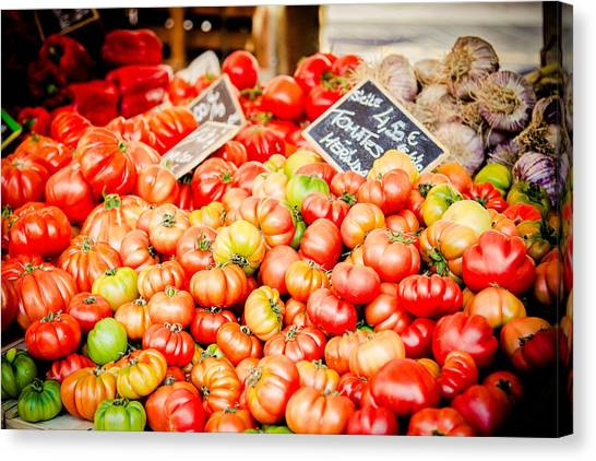Canvas Print featuring the photograph You Say Tomato by Jason Smith
