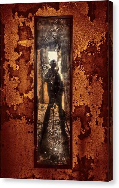 Asylum Canvas Print - You Shot A Hole In My Soul by Evelina Kremsdorf