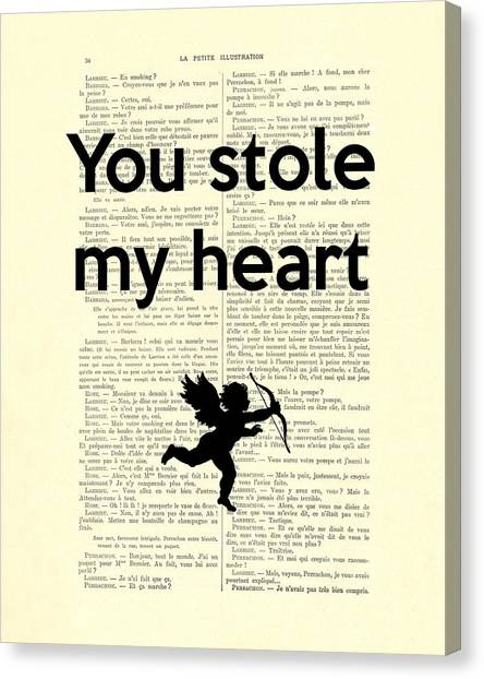 Media Canvas Print - You Stole My Heart, Cupid by Madame Memento