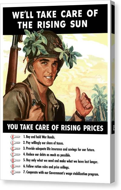 Soldiers Canvas Print - You Take Care Of Rising Prices by War Is Hell Store