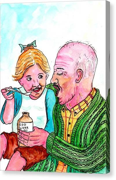 You Take It First Grandpa Okay Canvas Print