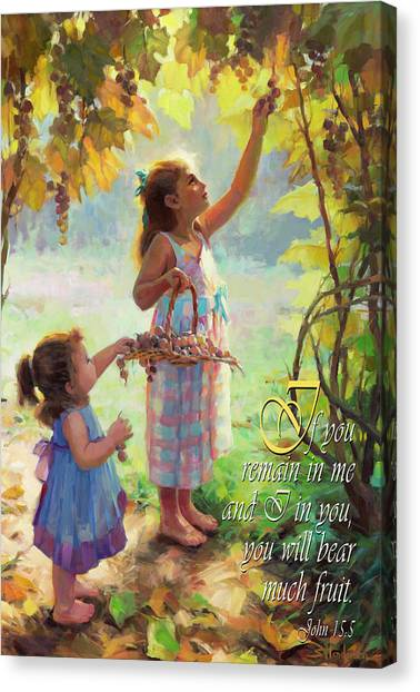 Countryside Canvas Print - You Will Bear Much Fruit by Steve Henderson