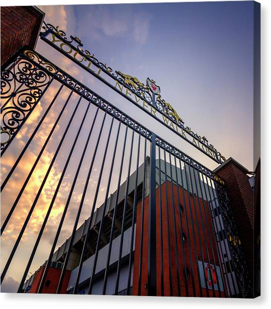 Liverpool Fc Canvas Print - Youll Never Walk Alone by Kevin Elias