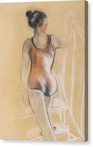 Bikini Canvas Print - Young Ballerina by Susan Adams