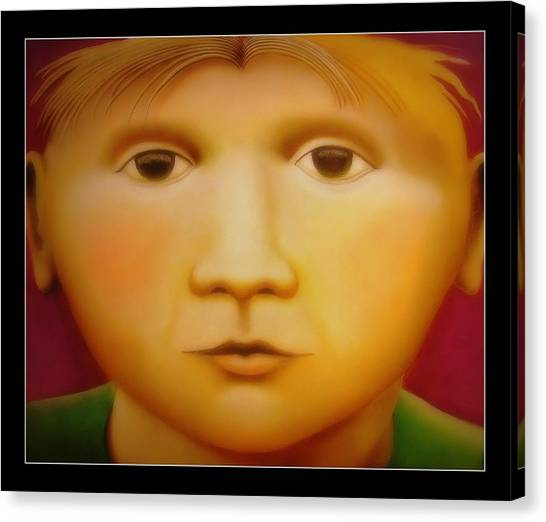 Young Boy - In Large Scale Canvas Print