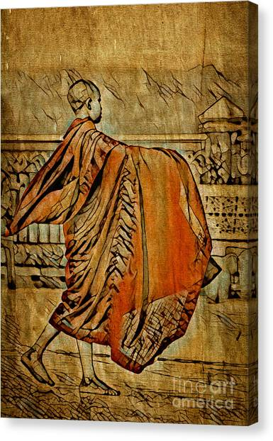 Young Buddhist Monk Canvas Print