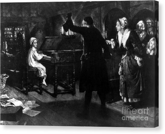 Harpsichords Canvas Print - Young George Handel Playing Harpsichord by Science Source